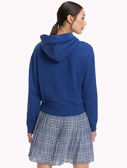 TOMMY HILFIGER Relaxed Fit Logo Tape Hoody - MAZARINE BLUE - TOMMY HILFIGER Sale Women - detail image 1