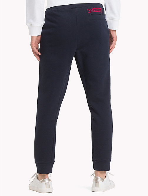 TOMMY HILFIGER Cotton Terry Joggers - MIDNIGHT - TOMMY HILFIGER Trousers - detail image 1