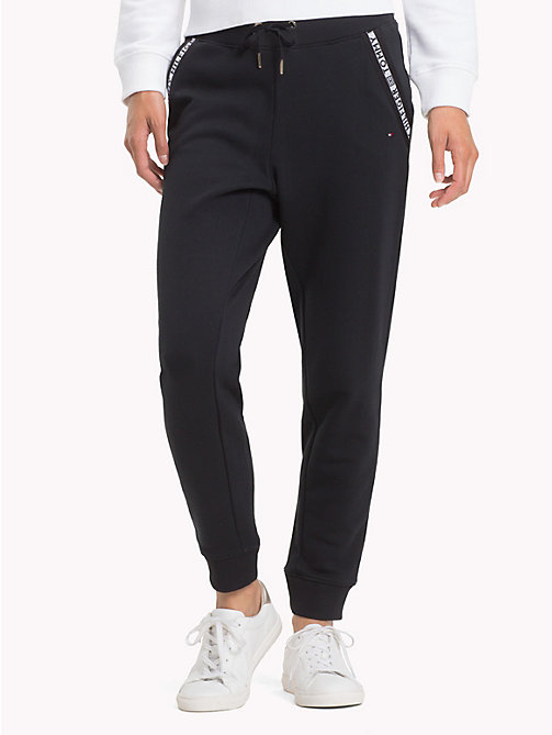 TOMMY HILFIGER Logo Tape Joggers - BLACK BEAUTY - TOMMY HILFIGER Trousers - main image