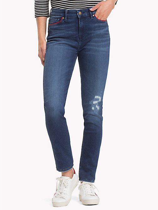 TOMMY HILFIGER Distressed Skinny Fit Jeans - BABELLA - TOMMY HILFIGER Black Friday Women - main image