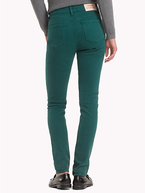 TOMMY HILFIGER Colour Denim Skinny Fit Jeans - JUNE BUG - TOMMY HILFIGER Skinny Jeans - detail image 1