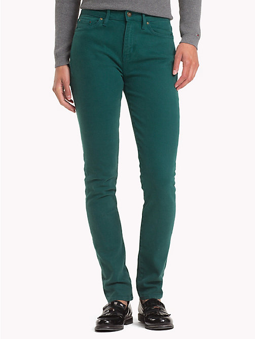 TOMMY HILFIGER Colour Denim Skinny Fit Jeans - JUNE BUG - TOMMY HILFIGER Skinny Jeans - main image