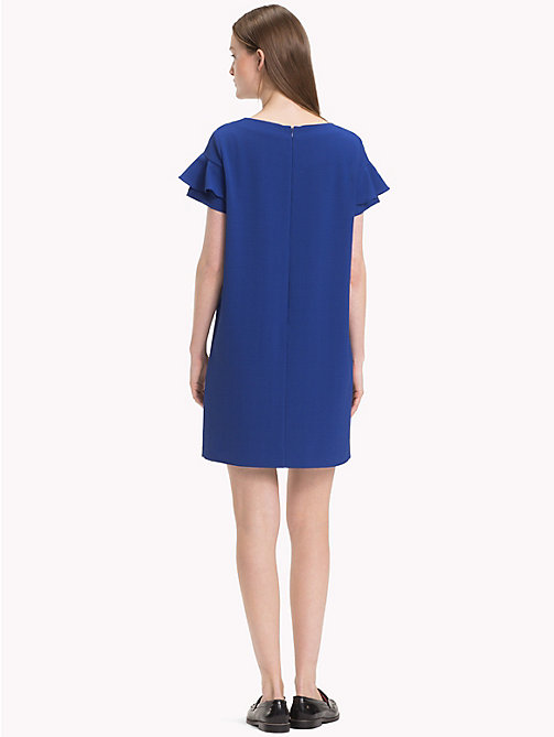 TOMMY HILFIGER Frill Sleeve Mini Dress - MAZARINE BLUE - TOMMY HILFIGER Dresses & Skirts - detail image 1