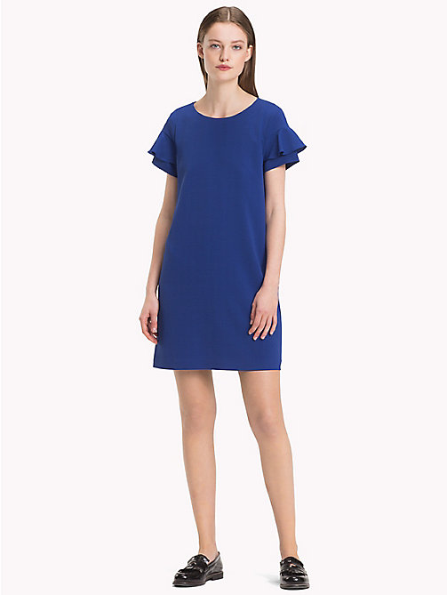 TOMMY HILFIGER Frill Sleeve Mini Dress - MAZARINE BLUE - TOMMY HILFIGER Dresses & Skirts - main image