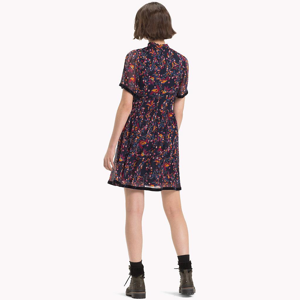 Tommy Hilfiger - Hochgeschlossenes Kleid mit Bändern - 2