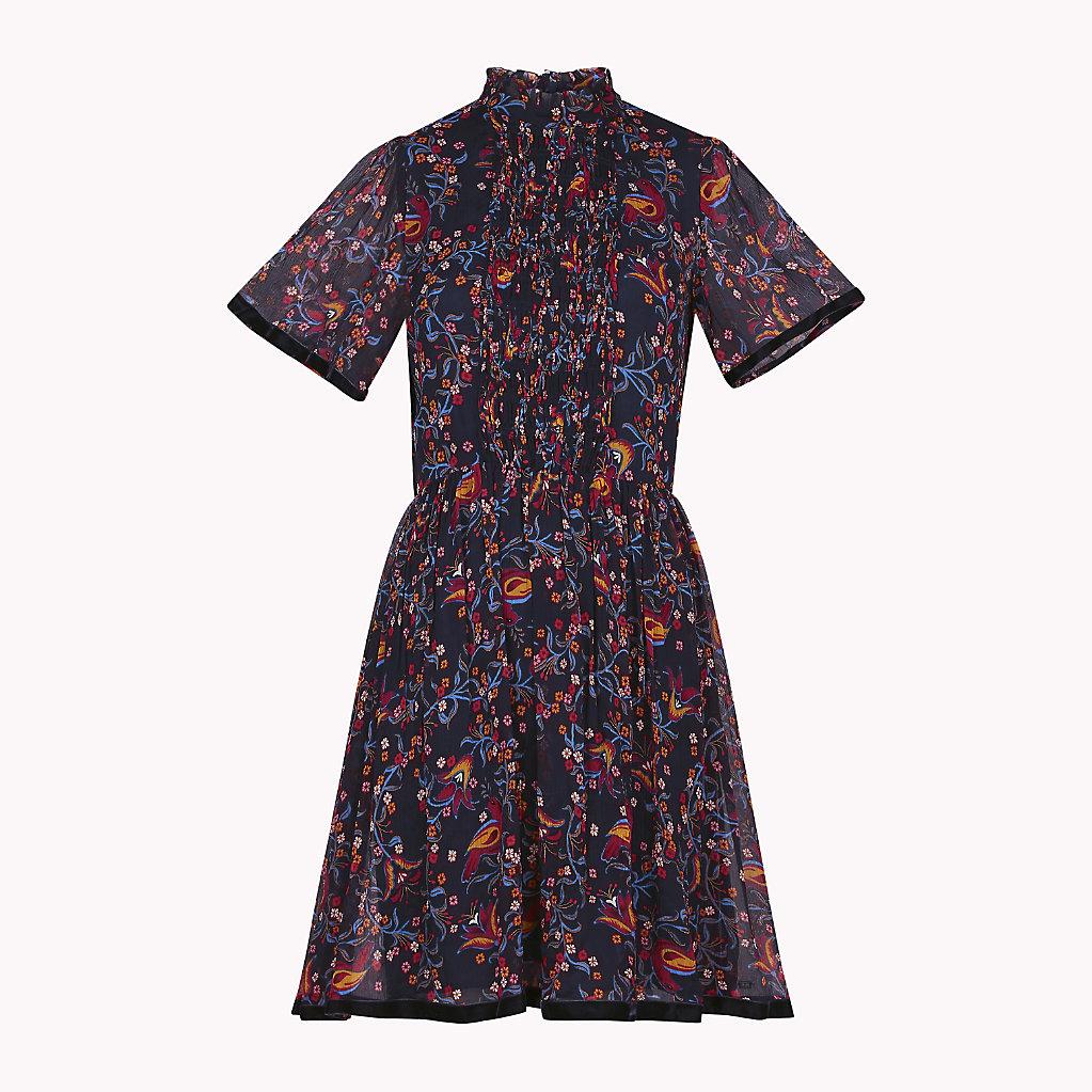 Tommy Hilfiger - Hochgeschlossenes Kleid mit Bändern - 4