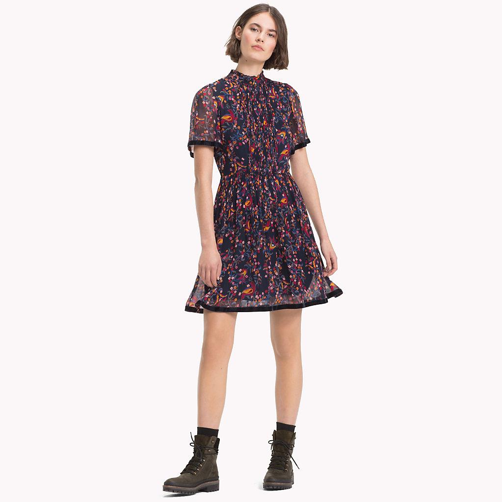 Tommy Hilfiger - Hochgeschlossenes Kleid mit Bändern - 1