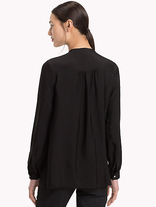 TOMMY HILFIGER Mandarin Collar Blouse - BLACK BEAUTY - TOMMY HILFIGER Blouses - detail image 1