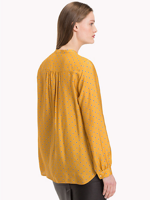 TOMMY HILFIGER Mandarin Collar Blouse - OUTLINE POLKA / SUNFLOWER - TOMMY HILFIGER Black Friday Women - detail image 1