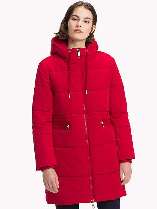 TOMMY HILFIGER Essential Parka - JESTER RED - TOMMY HILFIGER Clothing - main image
