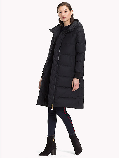 TOMMY HILFIGER Padded Down Coat - BLACK BEAUTY - TOMMY HILFIGER Sustainable Evolution - detail image 1