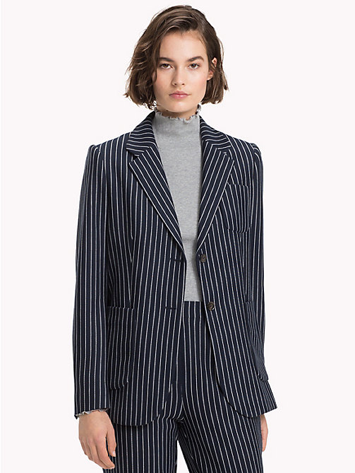TOMMY HILFIGER Single Breasted Regular Fit Blazer - PINSTRIPE CW / SKY CAPTAIN - TOMMY HILFIGER TOMMY NOW - main image