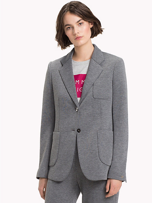 TOMMY HILFIGER Einreihiger Regular Fit Blazer - MEDIUM GREY HTR - TOMMY HILFIGER Die Business-Auswahl - main image