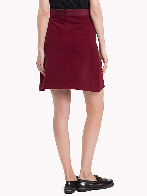 TOMMY HILFIGER Corduroy Pleat Skirt - CABERNET - TOMMY HILFIGER NEW IN - detail image 1