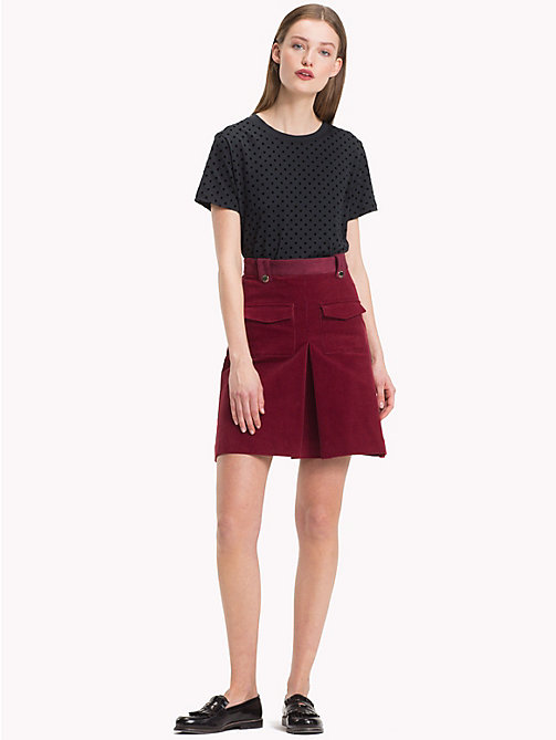 TOMMY HILFIGER Corduroy Pleat Skirt - CABERNET - TOMMY HILFIGER NEW IN - main image