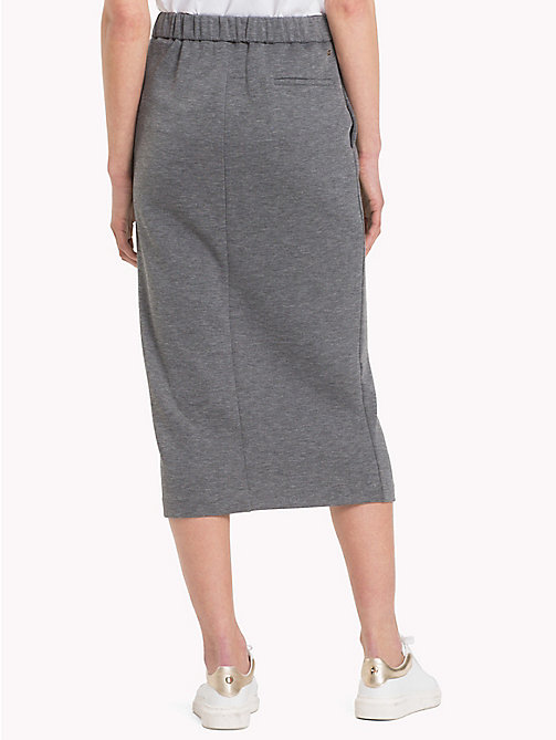 TOMMY HILFIGER Elasticated Waist Pencil Skirt - MEDIUM GREY HTR - TOMMY HILFIGER Skirts - detail image 1