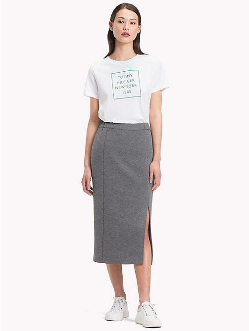 TOMMY HILFIGER Elasticated Waist Pencil Skirt - MEDIUM GREY HTR - TOMMY HILFIGER Skirts - main image