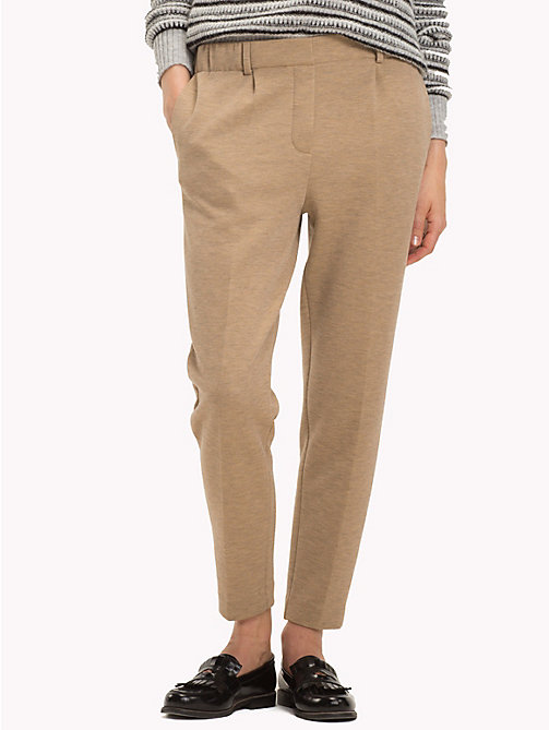 TOMMY HILFIGER Pull-On Cropped Trousers - CLASSIC CAMEL - TOMMY HILFIGER Cropped Trousers - main image