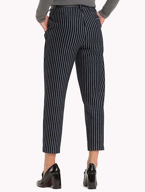 TOMMY HILFIGER Pull-On Cropped Trousers - PINSTRIPE CW / SKY CAPTAIN - TOMMY HILFIGER Black Friday Women - detail image 1