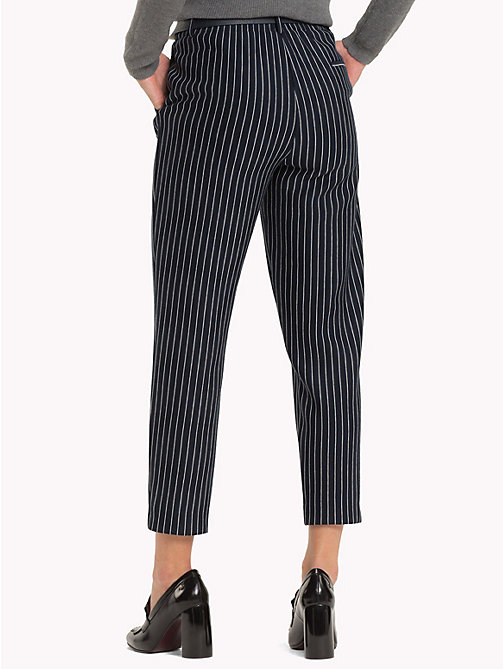 TOMMY HILFIGER Pull-On Cropped Trousers - PINSTRIPE CW / SKY CAPTAIN - TOMMY HILFIGER Clothing - detail image 1