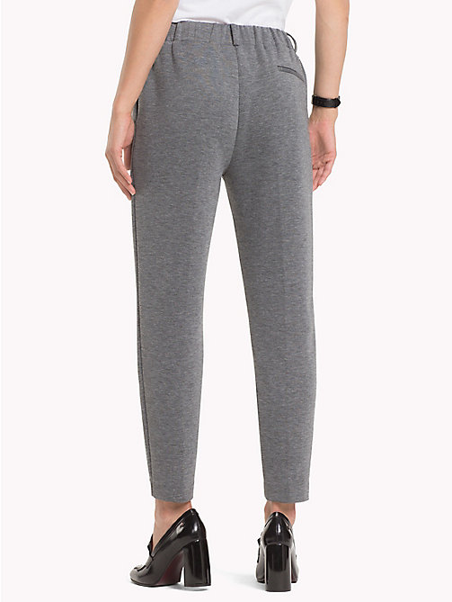 TOMMY HILFIGER Pull-On Cropped Trousers - MEDIUM GREY HTR - TOMMY HILFIGER Black Friday Women - detail image 1