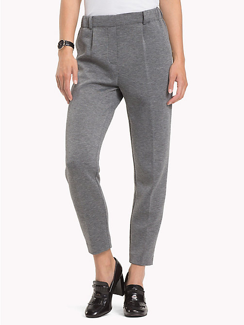 TOMMY HILFIGER Pull-On Cropped Trousers - MEDIUM GREY HTR - TOMMY HILFIGER Black Friday Women - main image