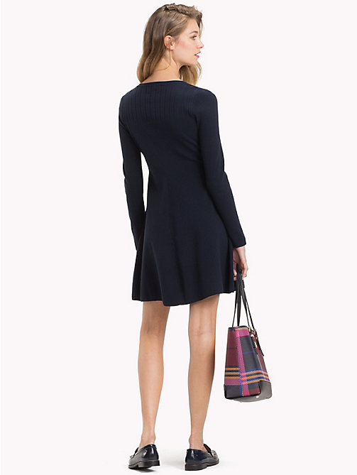 TOMMY HILFIGER Skater Dress - MIDNIGHT - TOMMY HILFIGER Dresses - detail image 1
