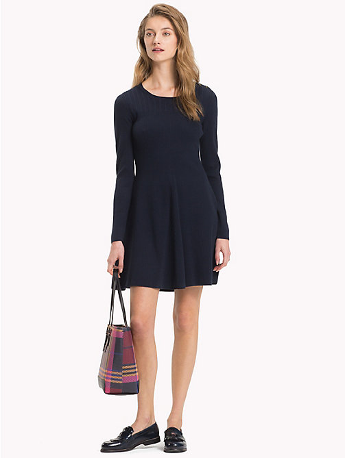 TOMMY HILFIGER Robe patineuse - MIDNIGHT - TOMMY HILFIGER Robes & Jupes - image principale