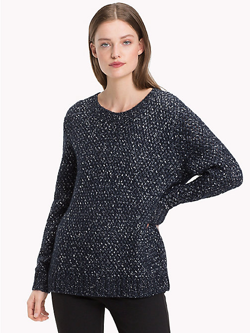 TOMMY HILFIGER Woven Knitted Jumper - MIDNIGHT - TOMMY HILFIGER Jumpers - main image