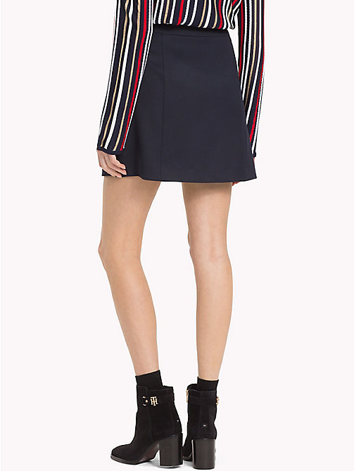 TOMMY HILFIGER Button Trim Skirt - MIDNIGHT - TOMMY HILFIGER Skirts - detail image 1