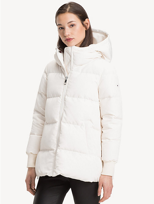 TOMMY HILFIGER Padded Down Jacket - SNOW WHITE - TOMMY HILFIGER Sustainable Evolution - main image