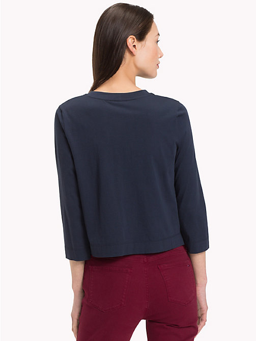 TOMMY HILFIGER Top mit Spitzeneinsatz - MIDNIGHT - TOMMY HILFIGER NEW IN - main image 1