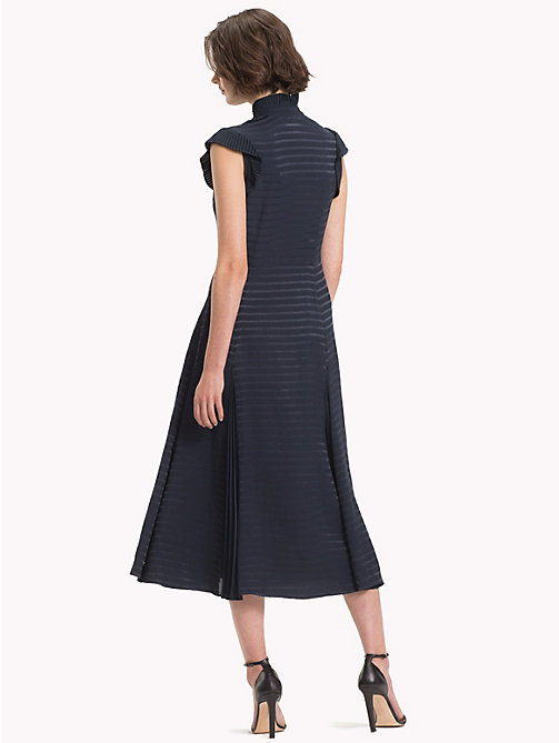 TOMMY HILFIGER Ruffled Midi Dress - MIDNIGHT - TOMMY HILFIGER Clothing - detail image 1