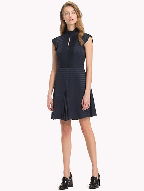 TOMMY HILFIGER Slim Stripe Weave Dress - 413-MIDNIGHT - TOMMY HILFIGER Dresses & Skirts - main image