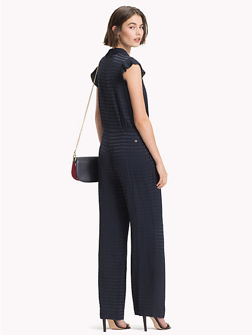 TOMMY HILFIGER Ruffled Sleeveless Jumpsuit - MIDNIGHT - TOMMY HILFIGER Dresses & Skirts - detail image 1