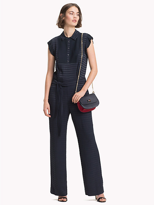 TOMMY HILFIGER Ruffled Sleeveless Jumpsuit - MIDNIGHT - TOMMY HILFIGER Dresses & Skirts - main image