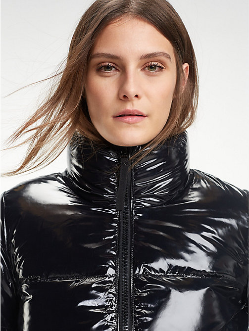 TOMMY HILFIGER High Gloss Down Jacket - BLACK BEAUTY - TOMMY HILFIGER Sustainable Evolution - main image
