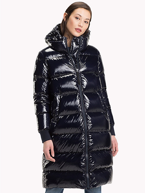 TOMMY HILFIGER High Gloss Down Maxi Coat - MIDNIGHT - TOMMY HILFIGER Coats & Jackets - main image