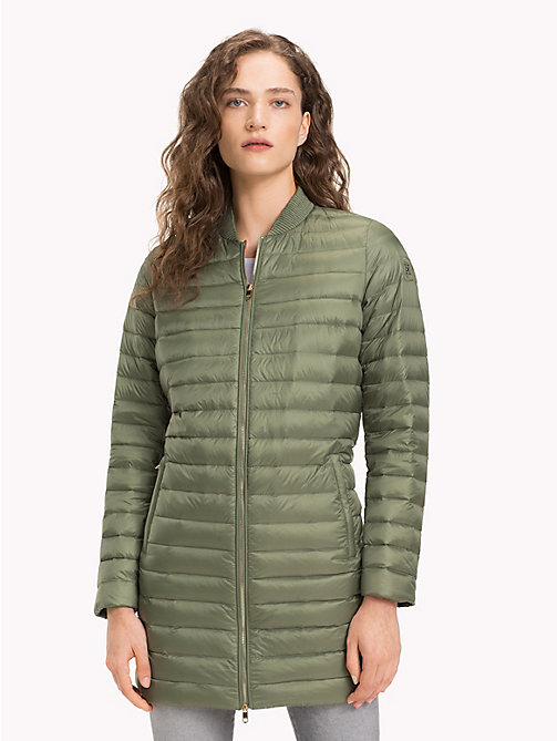 TOMMY HILFIGER Quilted Zip Thru Coat - FOUR LEAF CLOVER - TOMMY HILFIGER Sustainable Evolution - main image