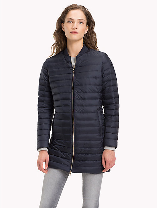 TOMMY HILFIGER Quilted Zip Thru Coat - MIDNIGHT - TOMMY HILFIGER Sustainable Evolution - main image