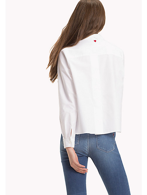 TOMMY HILFIGER Heart Detail Cotton Blouse - CLASSIC WHITE - TOMMY HILFIGER TOMMYXLOVE - main image 1