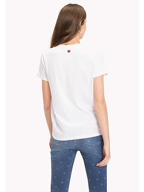 TOMMY HILFIGER Crew Neck Slogan T-Shirt - CLASSIC WHITE / SILVER HEART - TOMMY HILFIGER TOMMYXLOVE - detail image 1