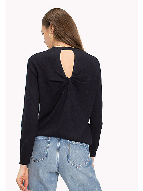 TOMMY HILFIGER Ruched Cutout Back Jumper - MIDNIGHT - TOMMY HILFIGER TOMMYXLOVE - detail image 1