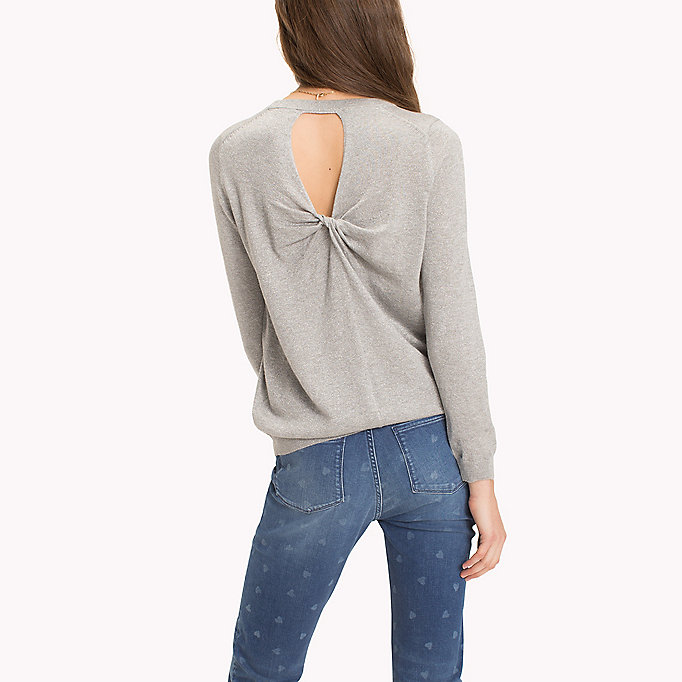 TOMMY HILFIGER Ruched Cutout Back Jumper - MIDNIGHT - TOMMY HILFIGER Donne - dettaglio immagine 1