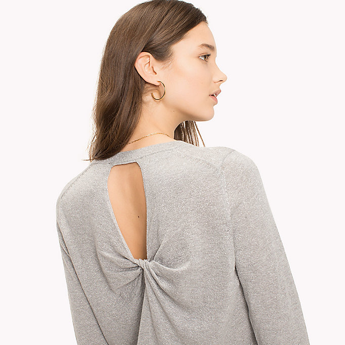 TOMMY HILFIGER Ruched Cutout Back Jumper - MIDNIGHT - TOMMY HILFIGER Donne - dettaglio immagine 2