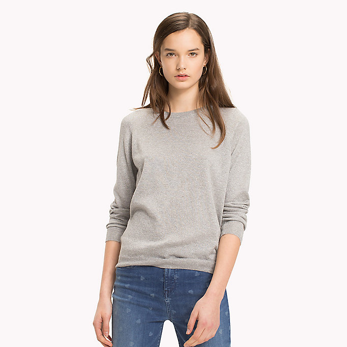 TOMMY HILFIGER Ruched Cutout Back Jumper - MIDNIGHT - TOMMY HILFIGER Clothing - main image