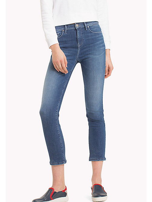 TOMMY HILFIGER Heart and Flag Skinny Cropped Jeans - ROMEA - TOMMY HILFIGER Clothing - main image