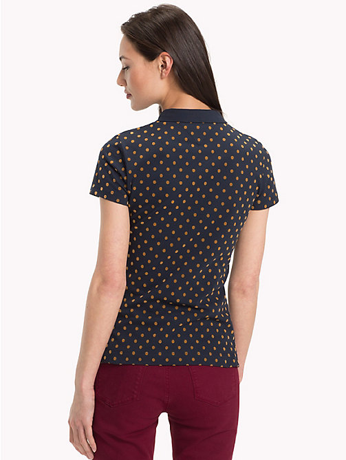 TOMMY HILFIGER Slim Fit Polka Dot Polo Shirt - MIDNIGHT - TOMMY HILFIGER Black Friday Women - detail image 1