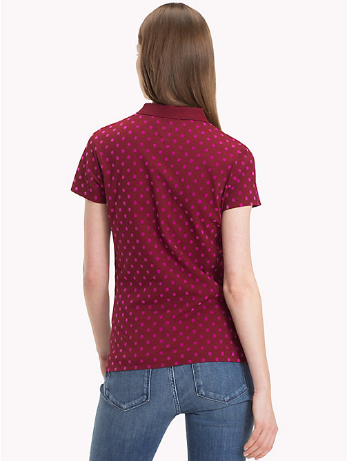 TOMMY HILFIGER Slim Fit Polka Dot Polo Shirt - CABERNET - TOMMY HILFIGER NEW IN - detail image 1