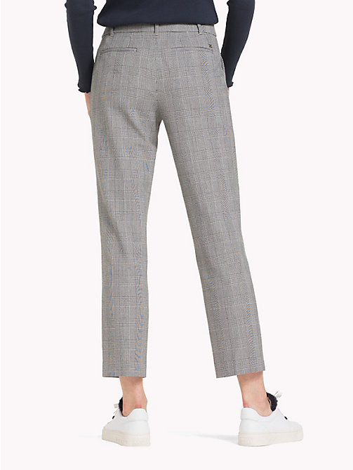TOMMY HILFIGER Check Wool Ankle Grazers - PRINCE OF WALES POP - TOMMY HILFIGER Trousers - detail image 1